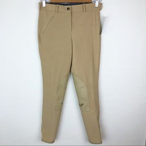 TUFFRIDER 26R Front Zip Knee patch Breeches NWT